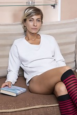 Laima strips nude after some light reading